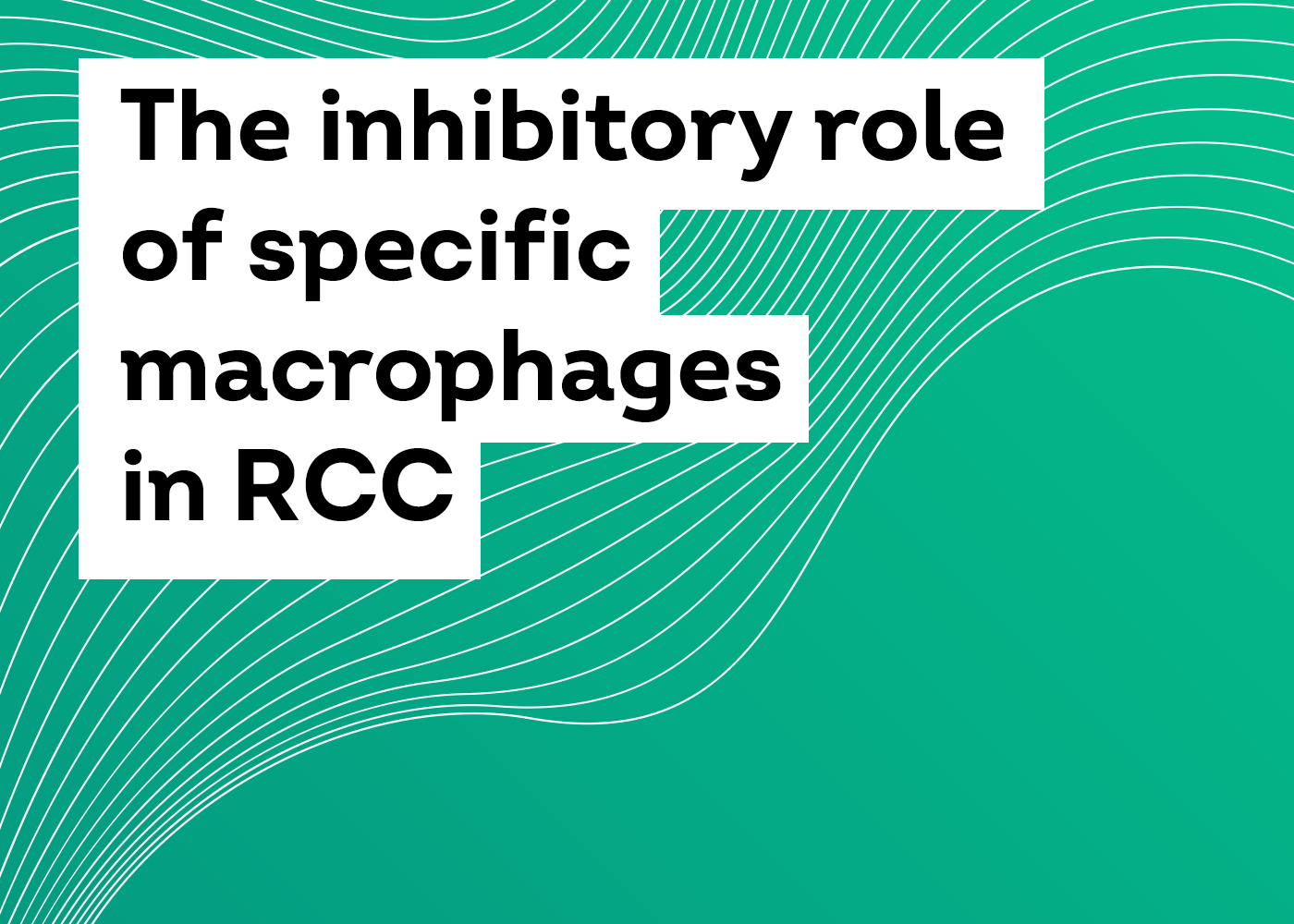 The inhibitory role of specific macrophages in RCC